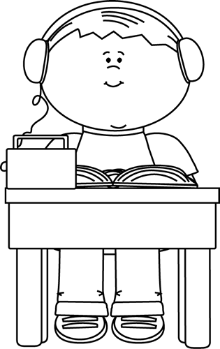 Black And White Boy Reading And Listening To A Book Clip Art Black And White Boy Reading And Listening To A Book Image Book Clip Art Clip Art Black And White