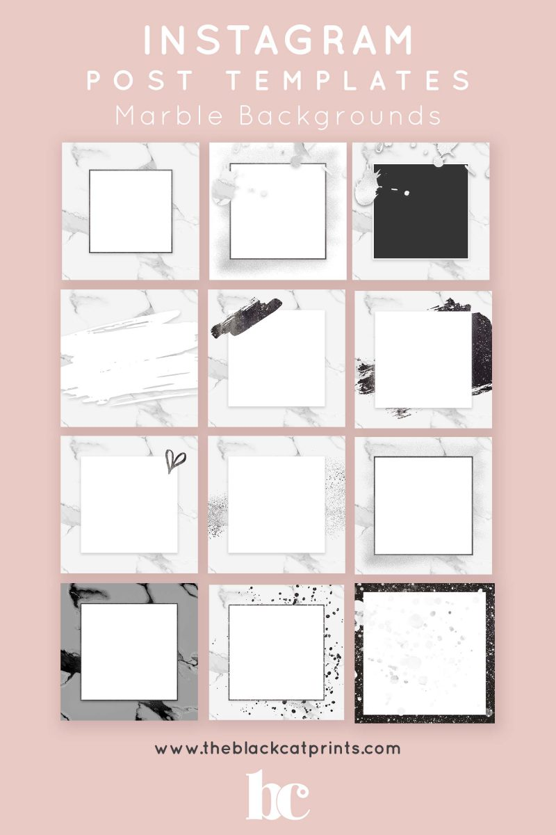 Instagram Post Story Templates Marble Backgrounds Theblackcatprints Instagram Template Design Instagram Posts Instagram Design