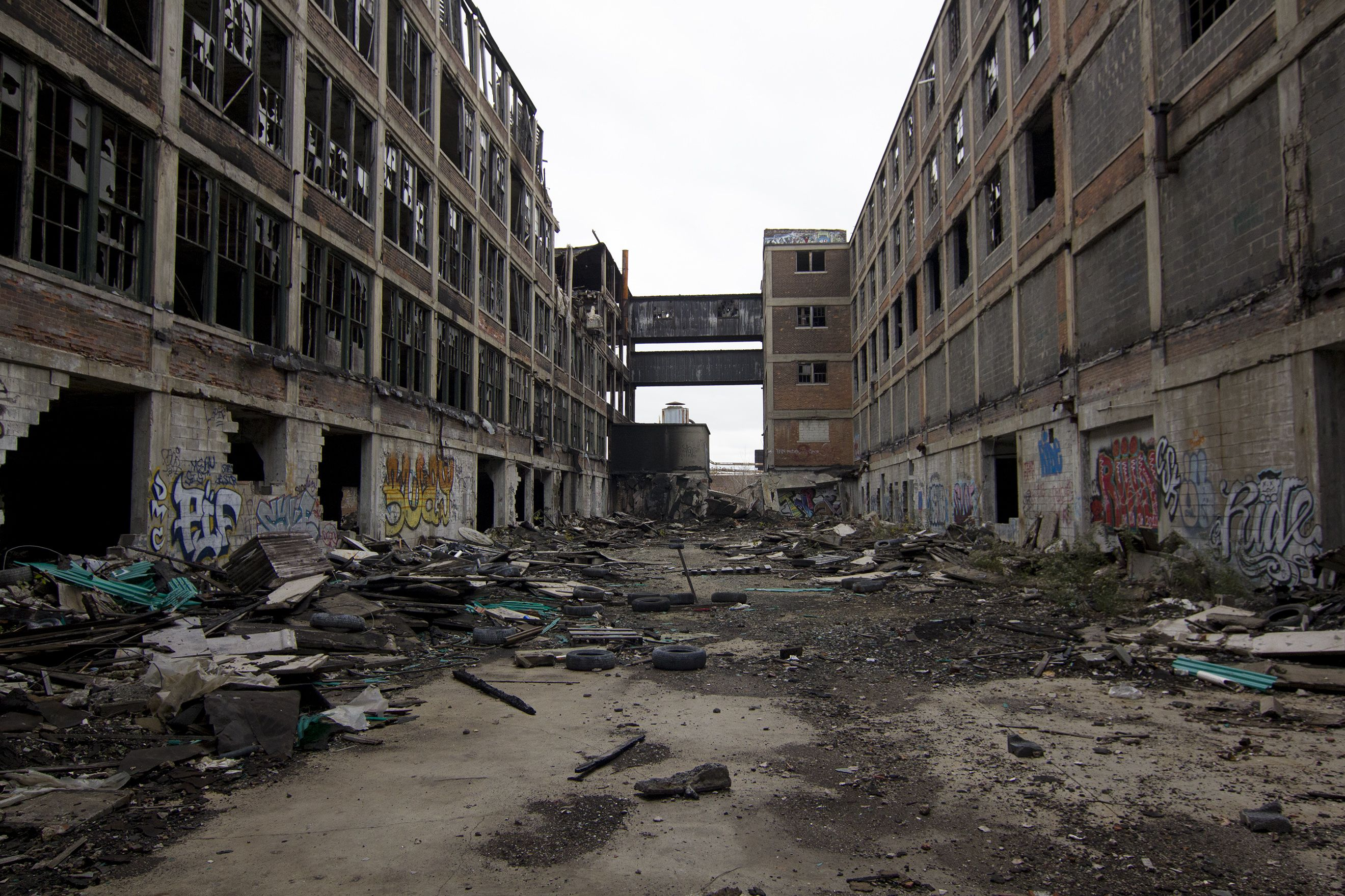 The Packard Automotive Plant Is A Former Automobile Manufacturing