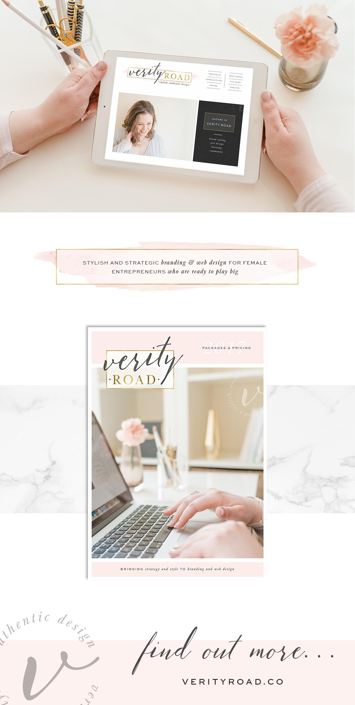 Brand Web Design Verity Road Luxury Branding For Female Entrepreneurs Branding Web Design Business Logo Design