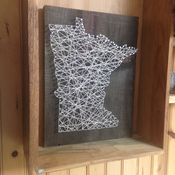 State String Art - Can Be Customized - Nail Art - Wall Art - Home ...
