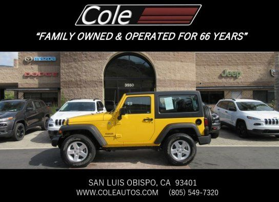 Cars For Sale: Certified 2015 Jeep Wrangler In 4WD Sport, San Luis Obispo CA