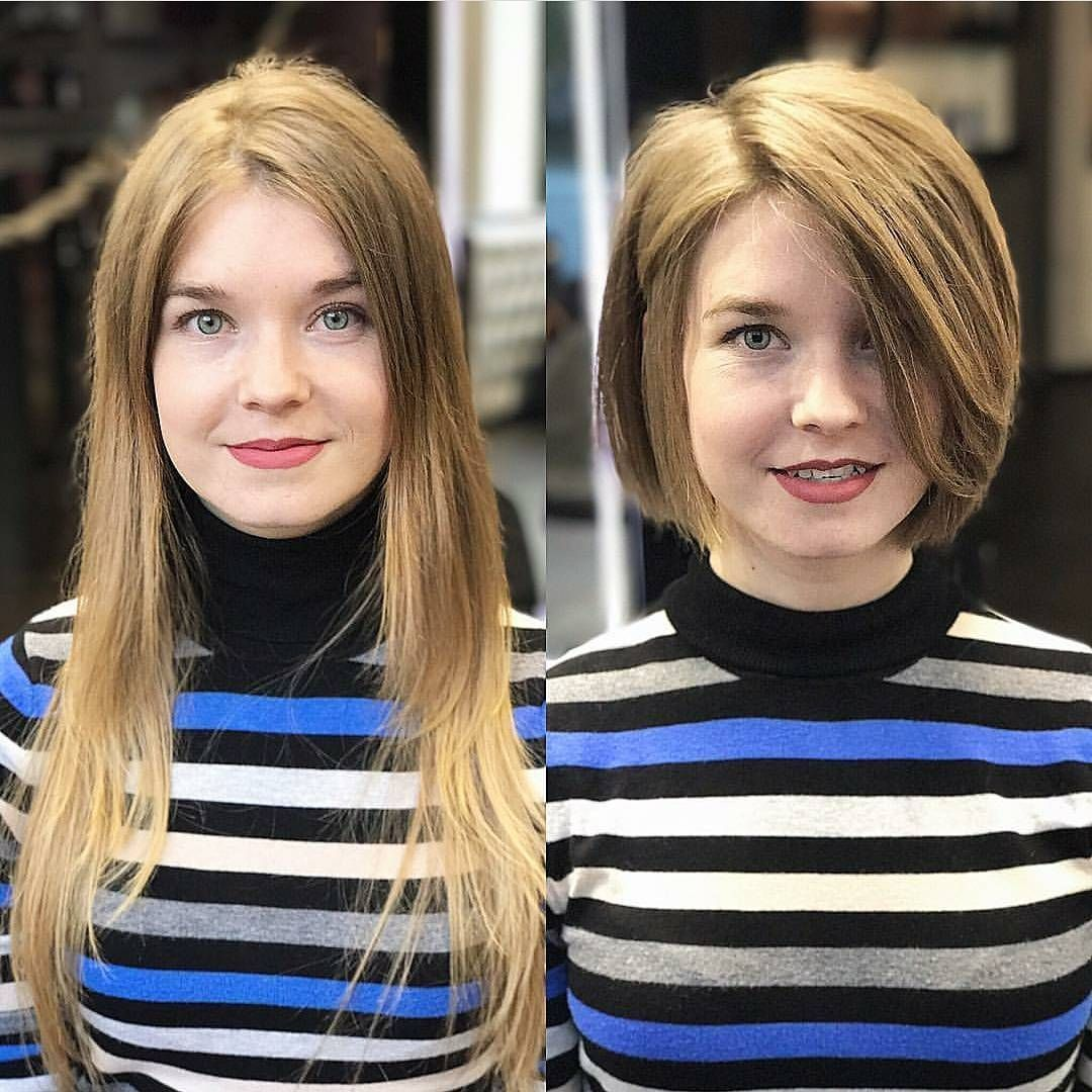 most flattering bob hairstyles for round faces short