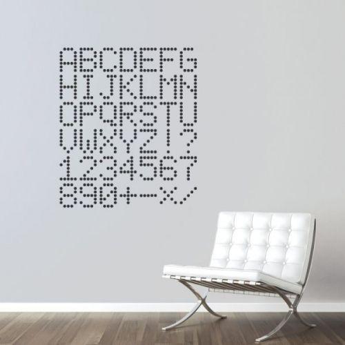 www.stickurz.com, Digital Alphabet, Typography,  Letters, Decoration, Wall Decal, Sticker, Design, Digital