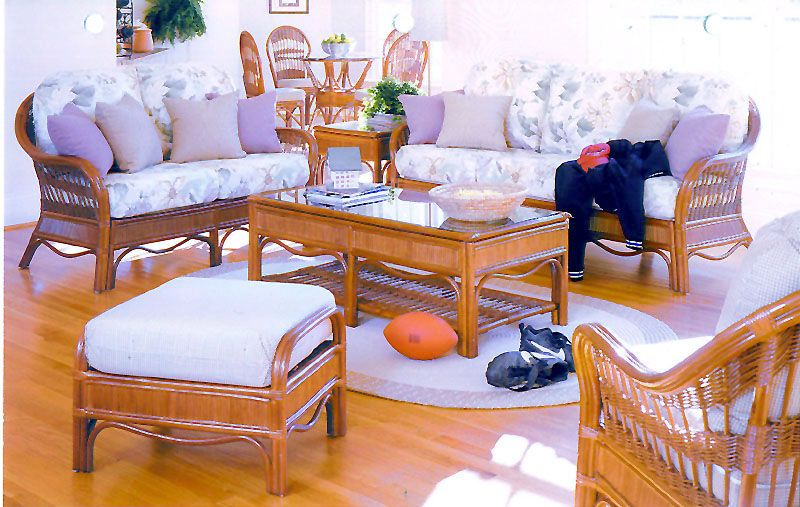 Bermuda Wicker Sunroom And Rattan Living Room Furniture