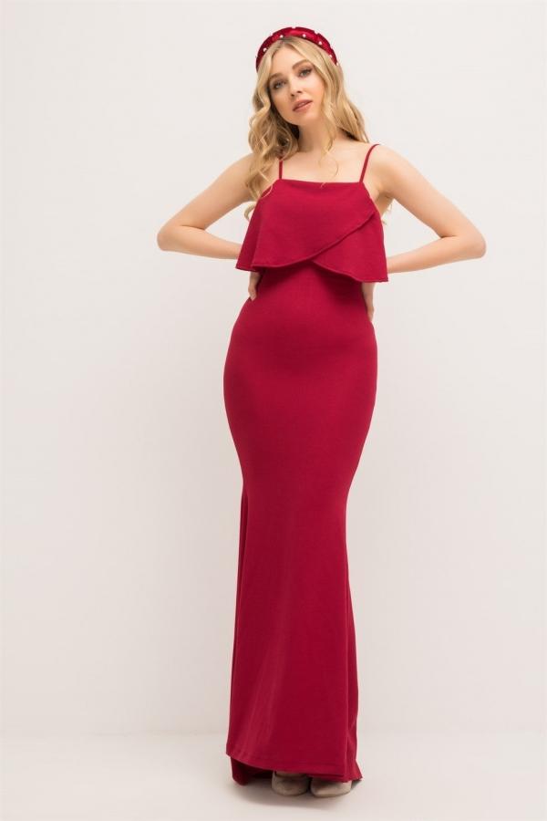 Bordo Ince Askili Uzun Abiye 201 Kapida Odemeli Ucuz Bayan Giyim Online Alisveris Sitesi Modivera Com Giyim The Dress Elbise