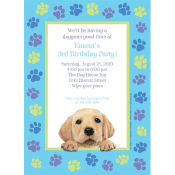 party pups birthday party  puppy party personalized invitation, free puppy party invitations, pet party invitations, puppy birthday party invitations