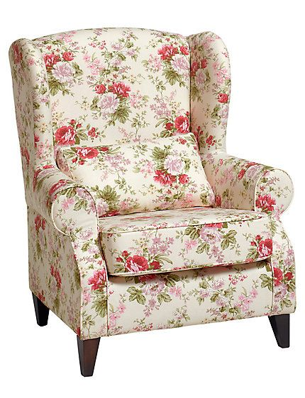 Fauteuil All With Roses ⊱ ⊱ Fauteuil Wit Fauteuil