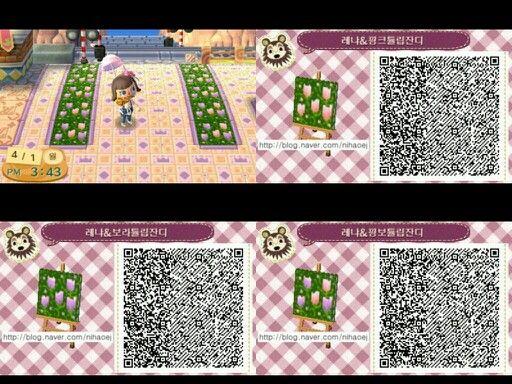 Cute Flower Paths Animal Crossing Qr Qr Codes Animal Crossing