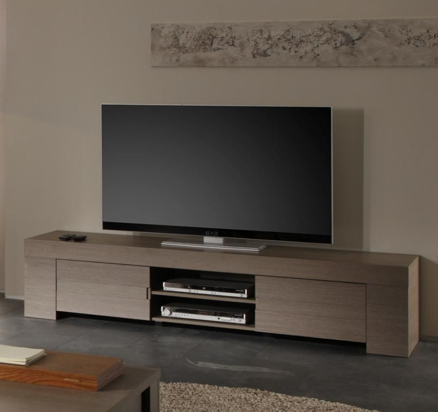 aurora, modern tv cabinet in kia oak, 190 cm | tv cabinet