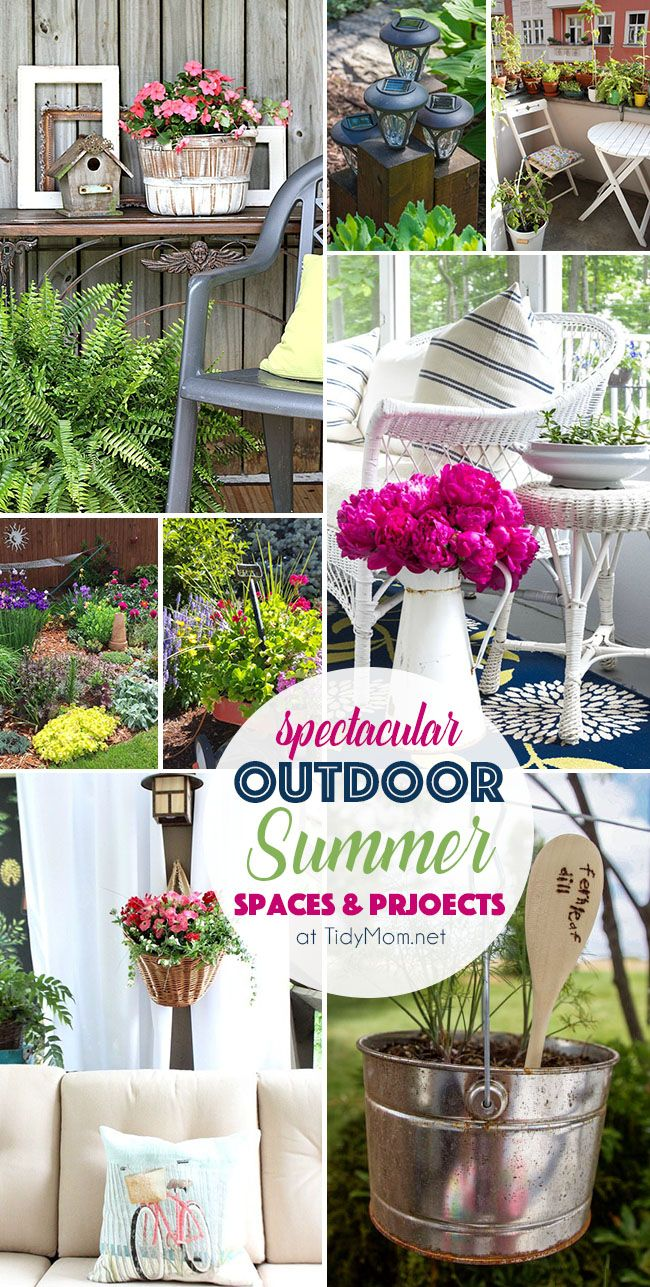 Spectacular Outdoor Summer Spaces And Projects From Ponds To Patios And  Gardens To Hanging Baskets And
