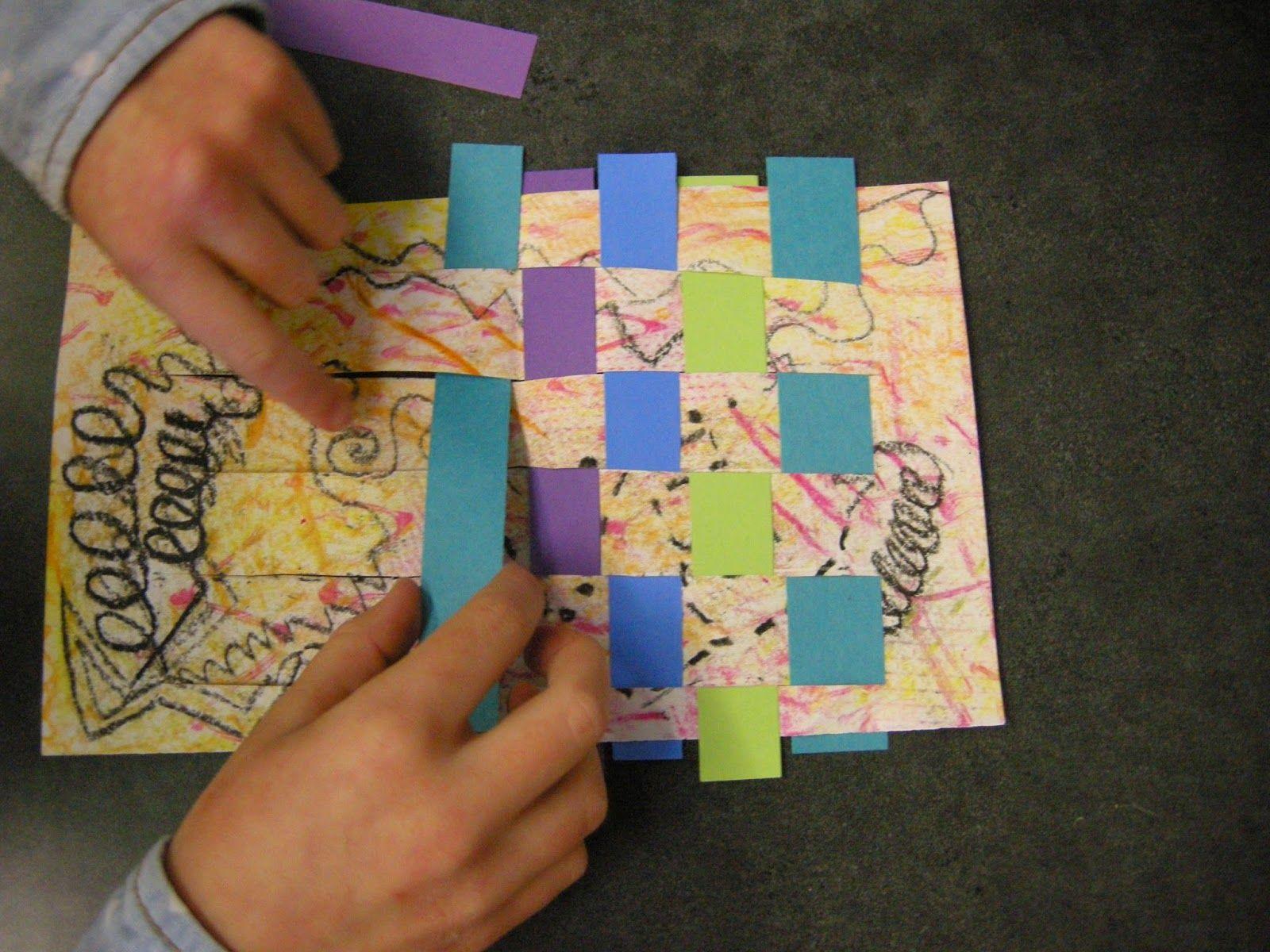 2nd Grade Kandinsky Inspired Weavings