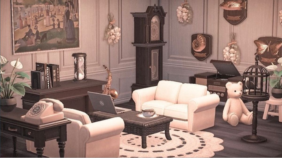 Living Room Interior Acnh Interior Design Animals Animal Crossing Game New Animal Crossing