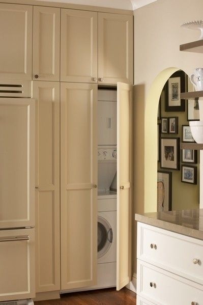 Doors to cover my stackable washer and dryer Laundry in
