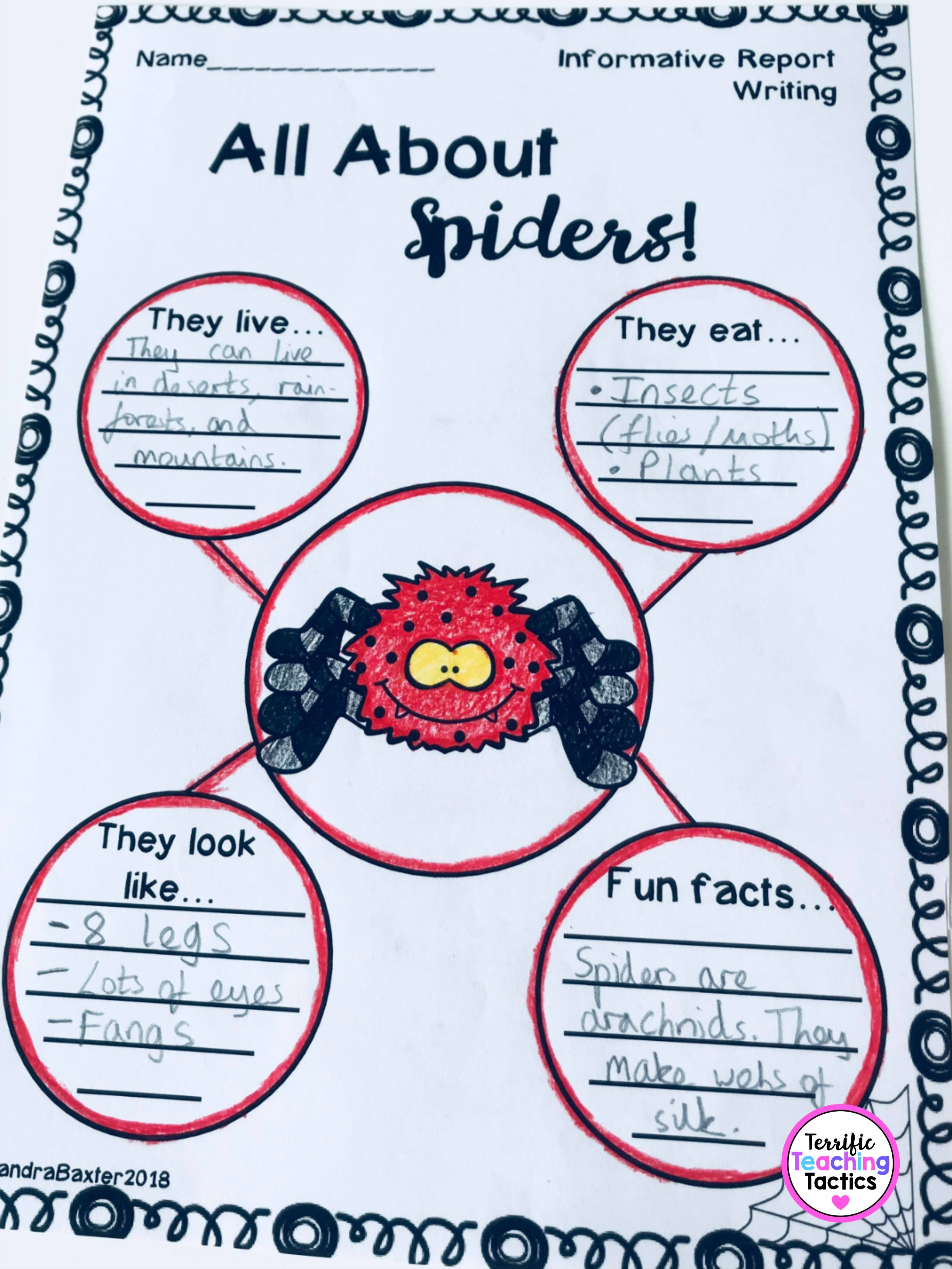 Informational Writing Worksheets And Graphic Organizers In