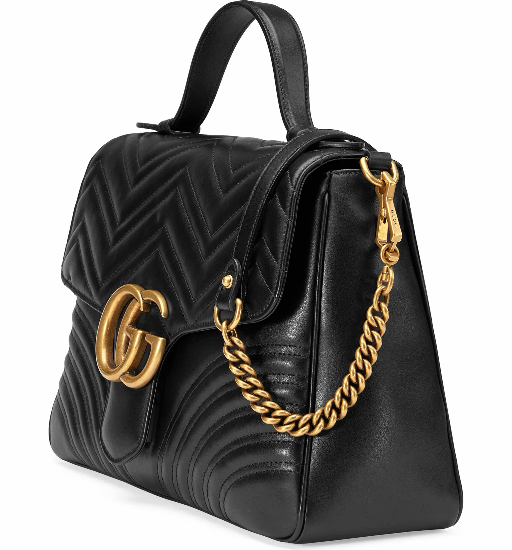 993ec2d8c28333 Main Image - Gucci Medium GG Marmont 2.0 Matelassé Leather Top Handle Bag