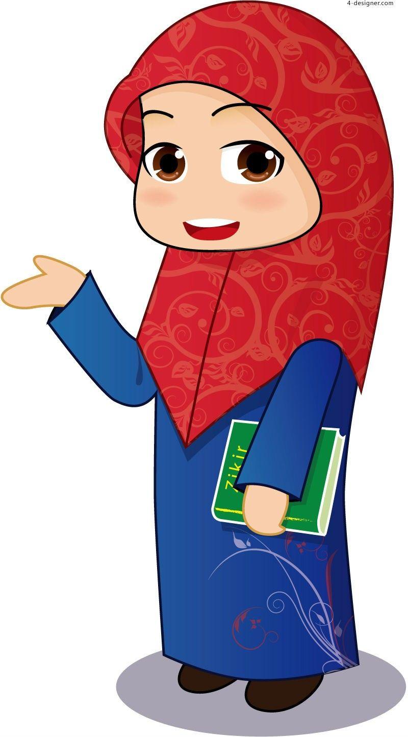 Free Vector Muslim Cartoon Carian Google Muslim Pinterest