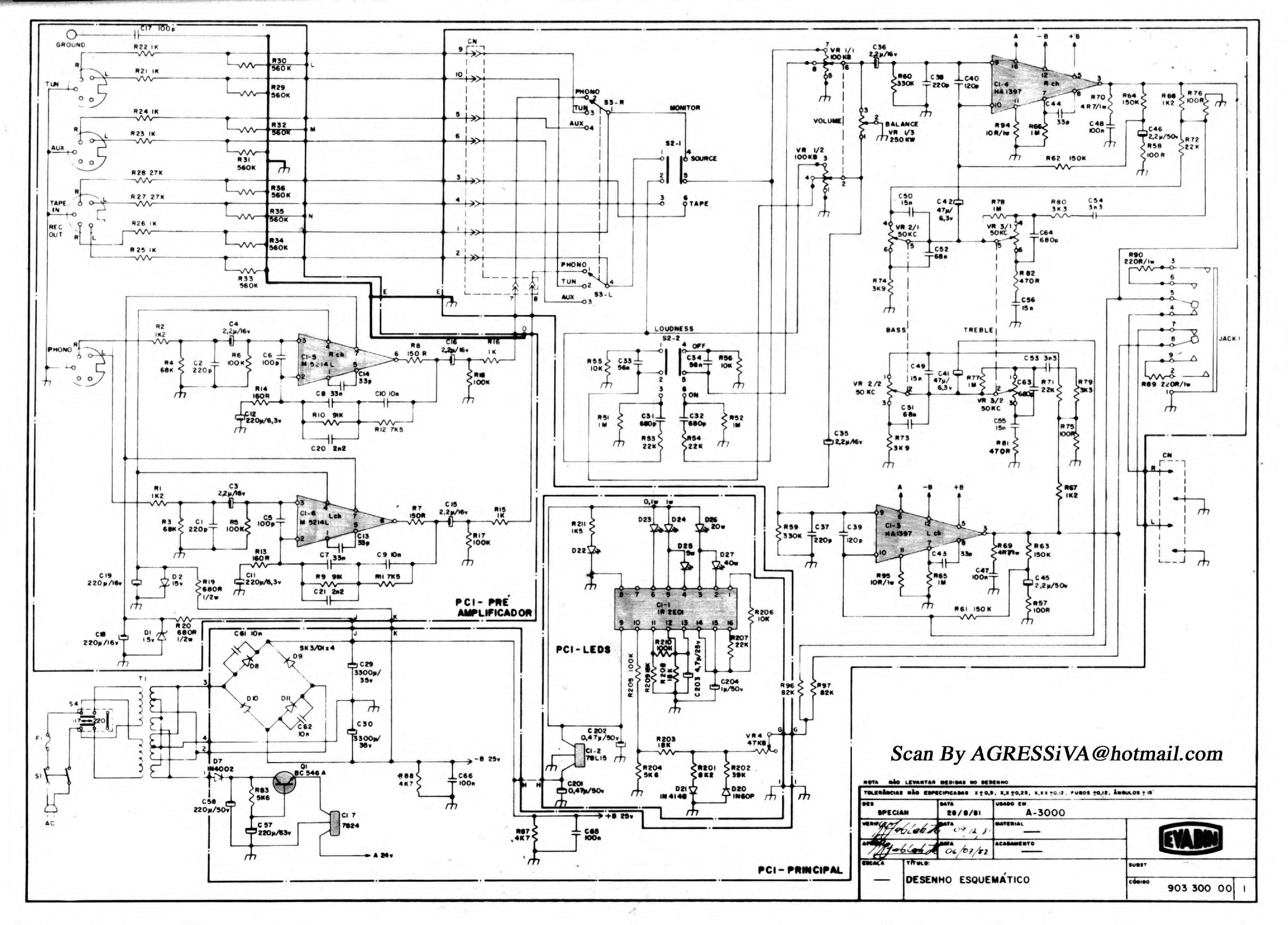 AIKO PA 3000 SCH Service Manual download, schematics