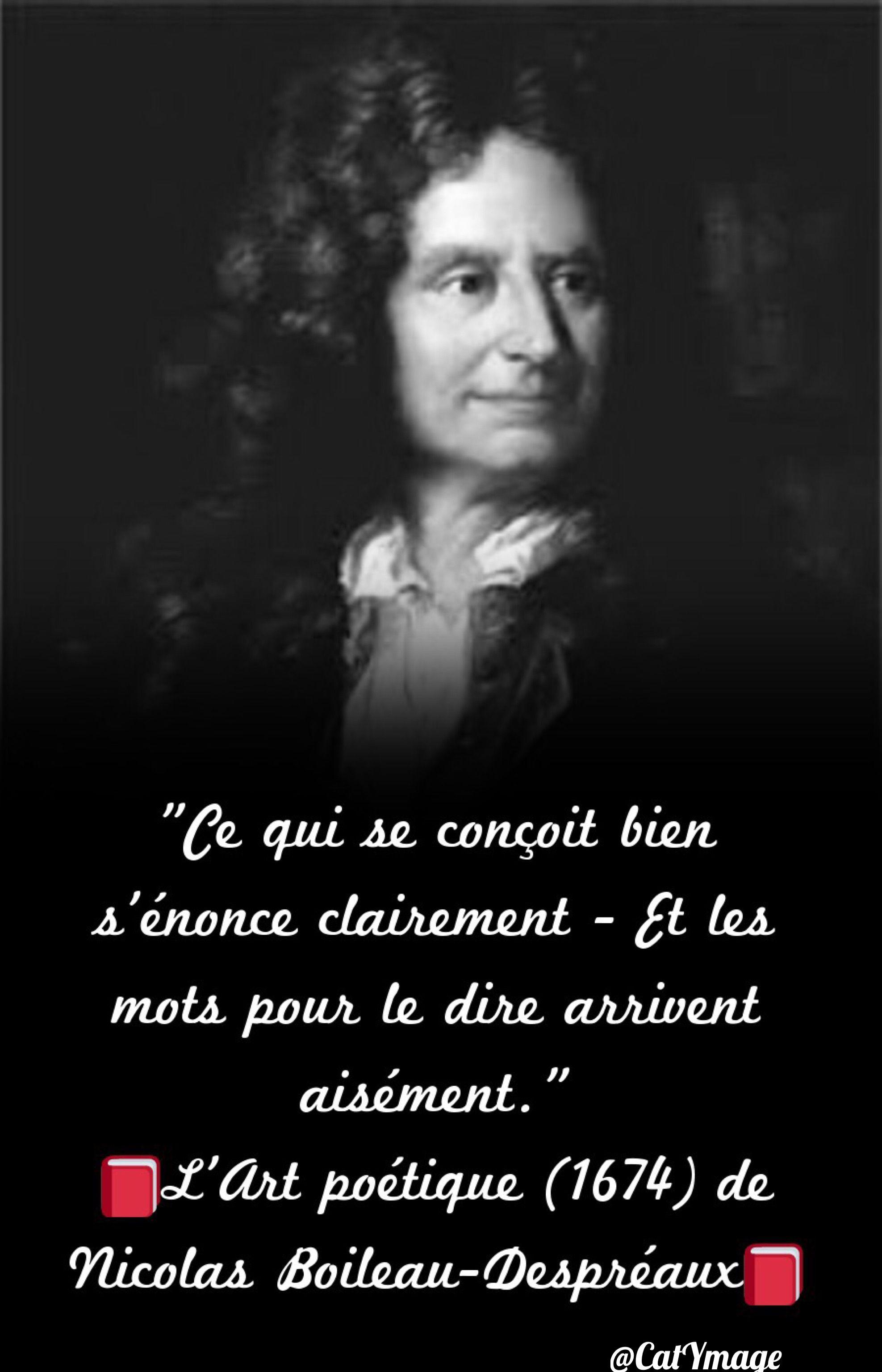 Ce Qui Se Concoit Bien S'énonce Clairement Citation : concoit, s'énonce, clairement, citation, Épinglé, Paroles,, Pensées...✨
