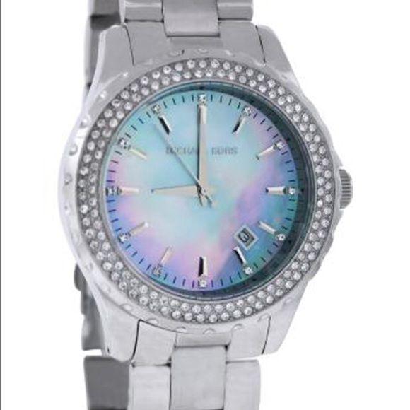 27b87b0d4732 Michael Kors watch with light blue face. 24hour sale! Very unique MK watch  with light blue face. Michael Kors Accessories Watches