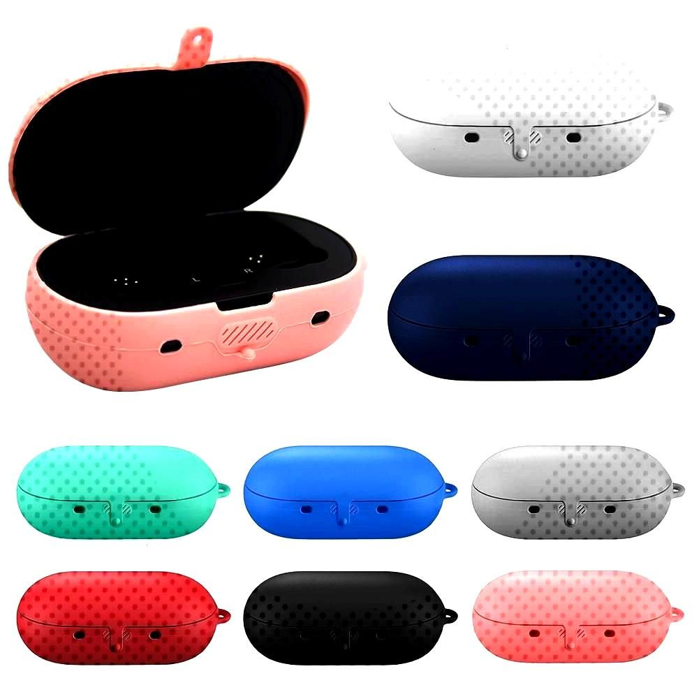 Opening Anti-shock Flexible Silicone Full Protective Cover Case for Samsung Galaxy Buds Sports Blue