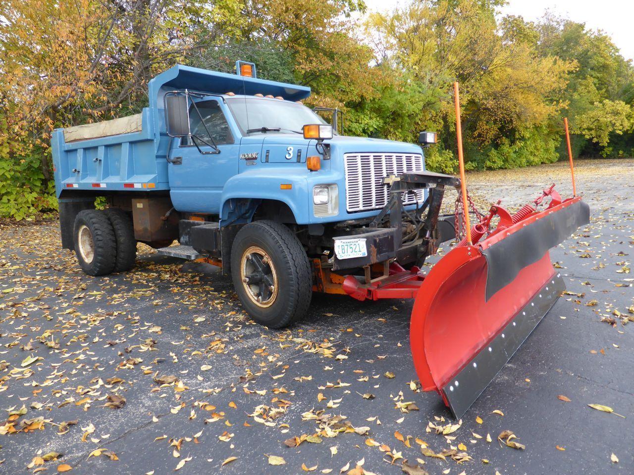 1992 Chevrolet Kodiak Topkick Dump Truck W 12 Snow Plow Classic Plow Truck Trucks Snow Plow