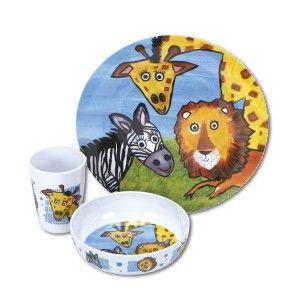 Kids Melamine Dinner Set Safari Childrens Tableware Becky Lolo Kids Melamine Kids Tableware Melamine Dinner Set