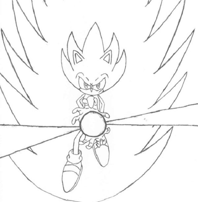 super sonic coloring pages to print | Cartoon | Pinterest