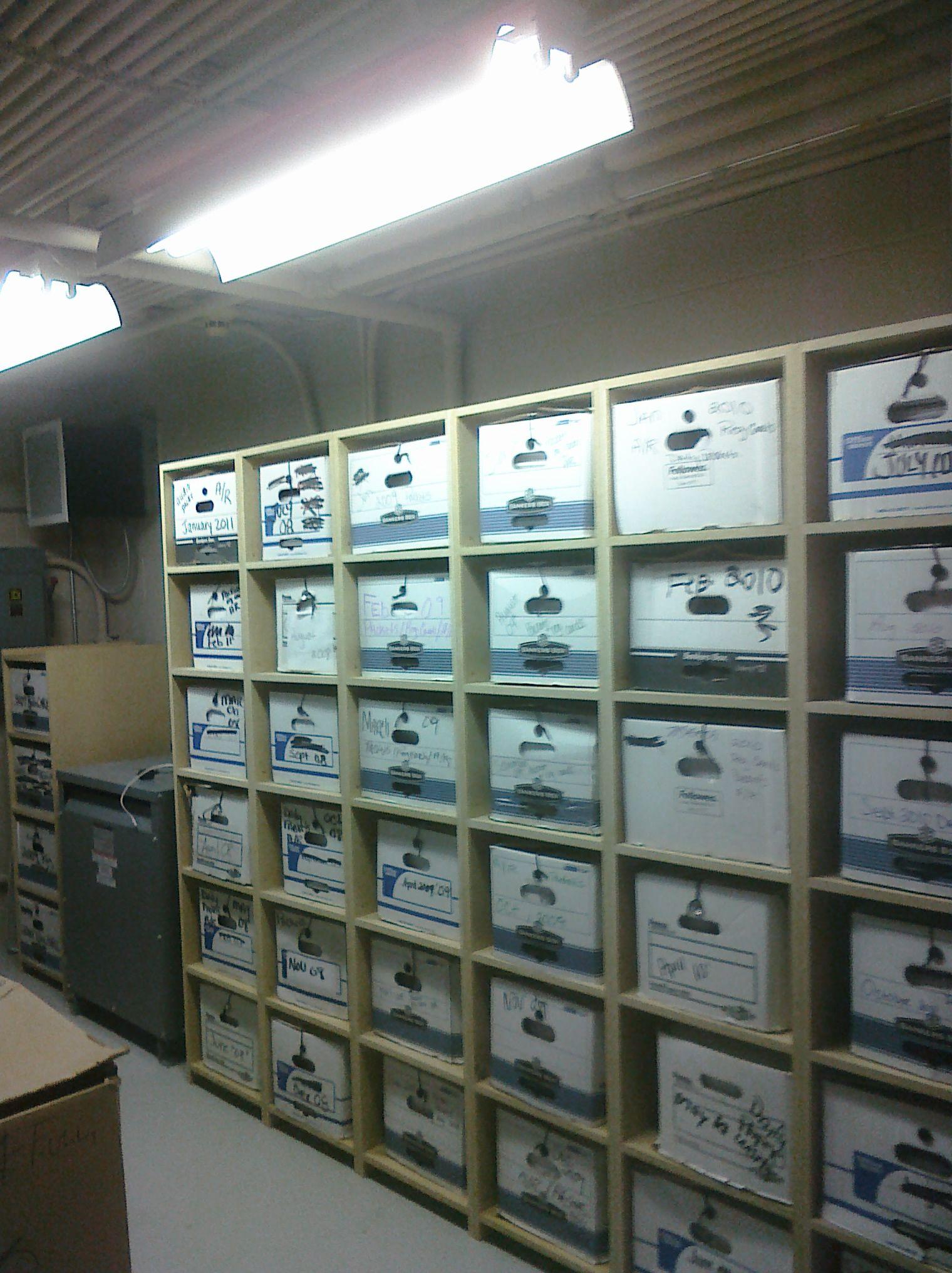 Banker Box Storage Wood Working Photo Wall Storage