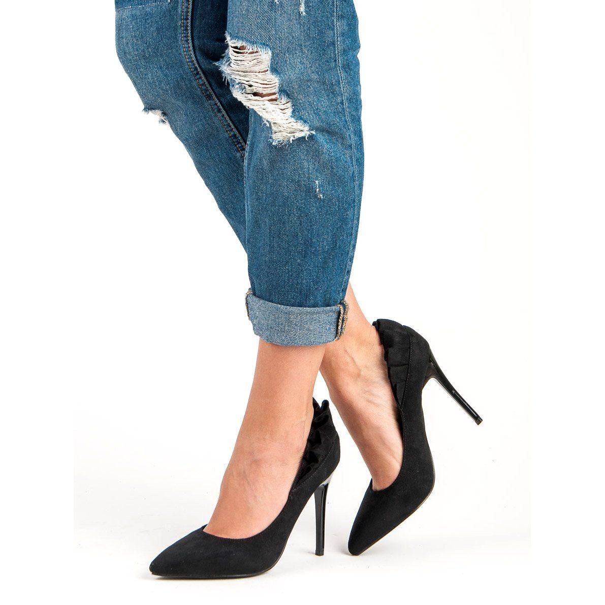 Eleganckie Czarne Szpilki Stiletto Heels Stiletto Fashion