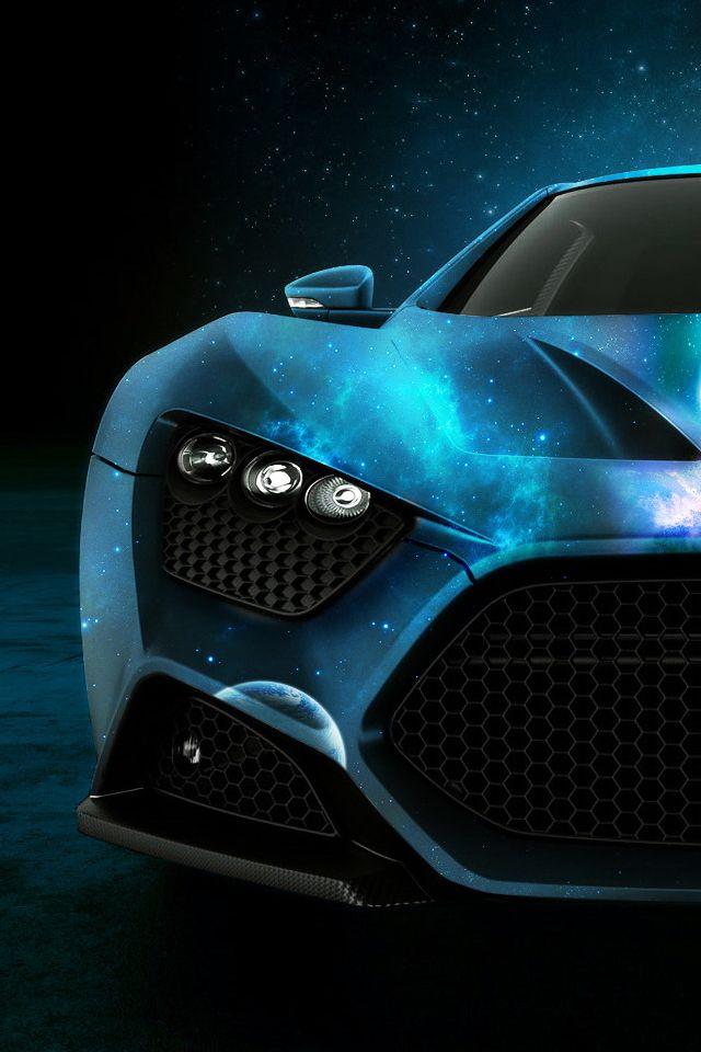 Teal/Turquoise car Zenvo ST1