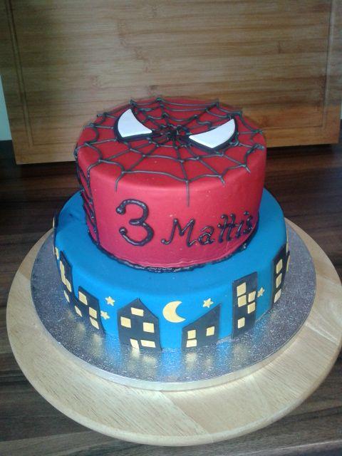 Geburtstag Kinder Spiderman Torte Binas Tortenwelt Diy Torte