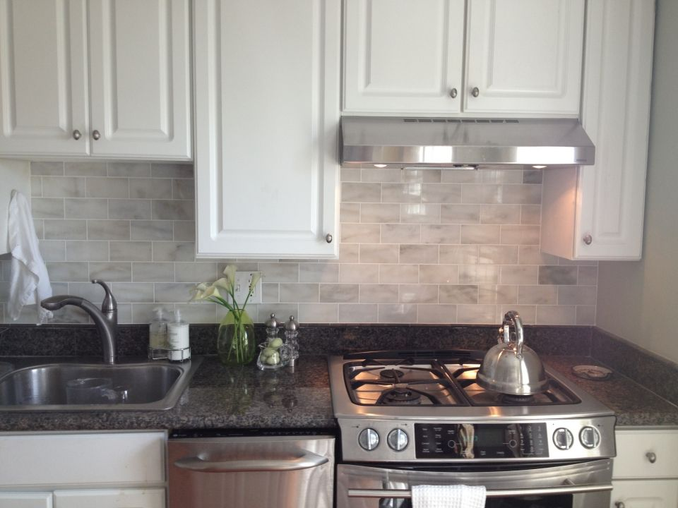 Kitchen Design Creamed Rectangle Kitchen Backsplash Subway Tiles