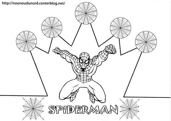 Couronne Spiderman A Colorier Boyama Sayfalari Sanat Etkinlikleri Faaliyetler