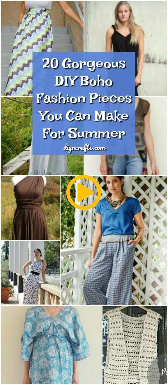 20 Gorgeous DIY Boho Fashion Pieces You Can Make For Summer! #diy #pattern #boh