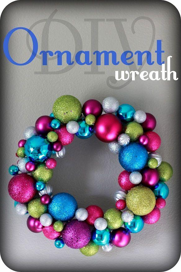 DIY Ornament Wreath #vanillajoy #christmascrafts #wreath Share