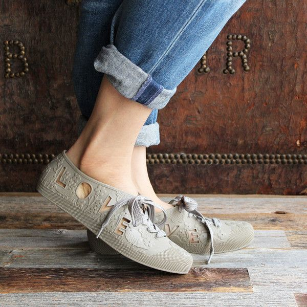 126f68321376 F-TROUPE- LOVE   PEACE Bathing Shoes (Taupe)