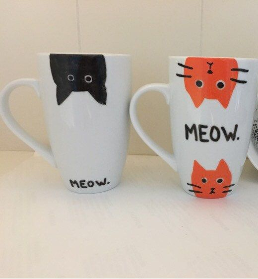 Taza de gatos taza cup mug pinterest taza de gato - Decoracion de tazas ...