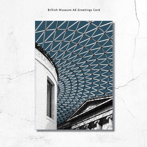 British,Museum,London,Greetings,Card,british museum art print, London art prints, London art prints for sale, buy London art, limited editio...