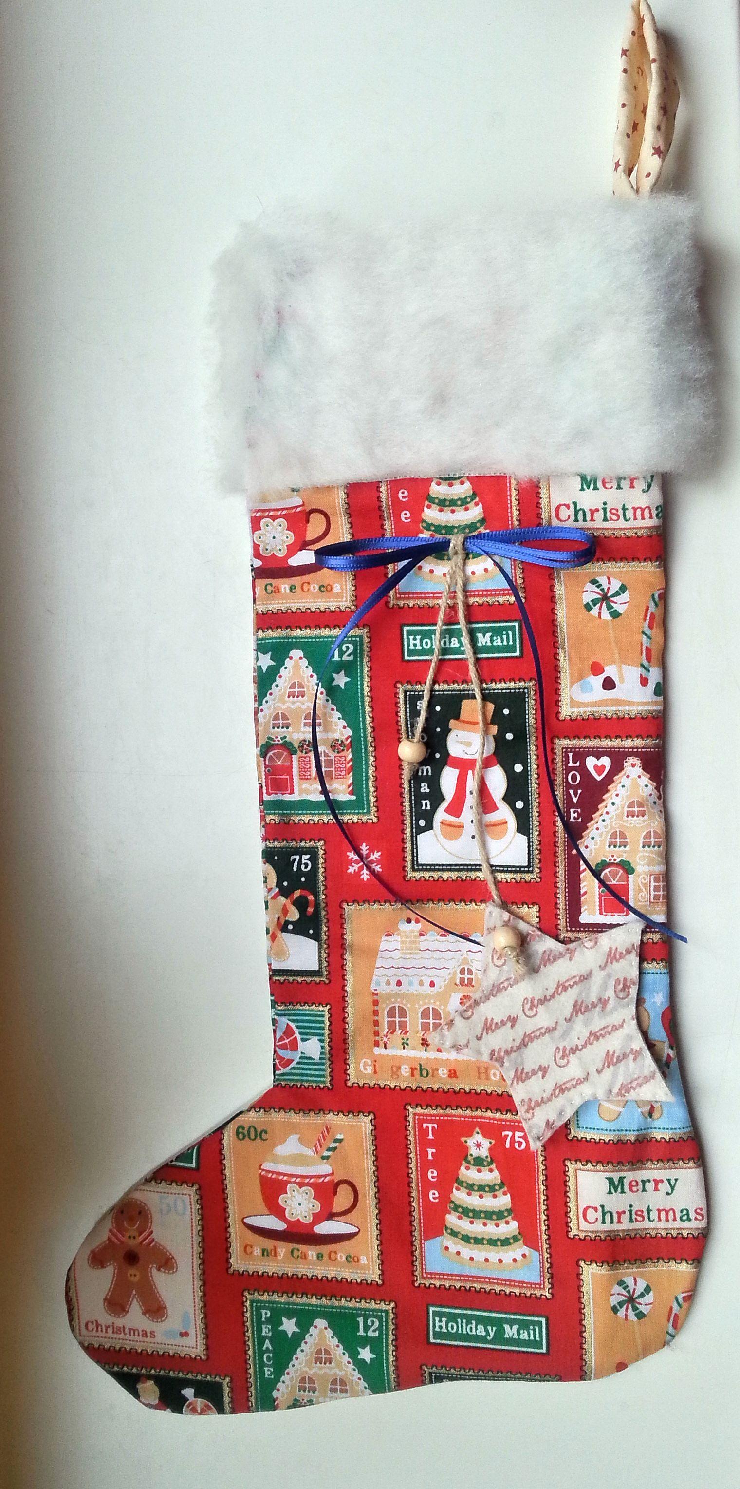 Nikolausstiefel groß Weihnachtsmotive rot  http://de.dawanda.com/product/73516131-Nikolausstiefel-gross-Weihnachtsmotive-rot