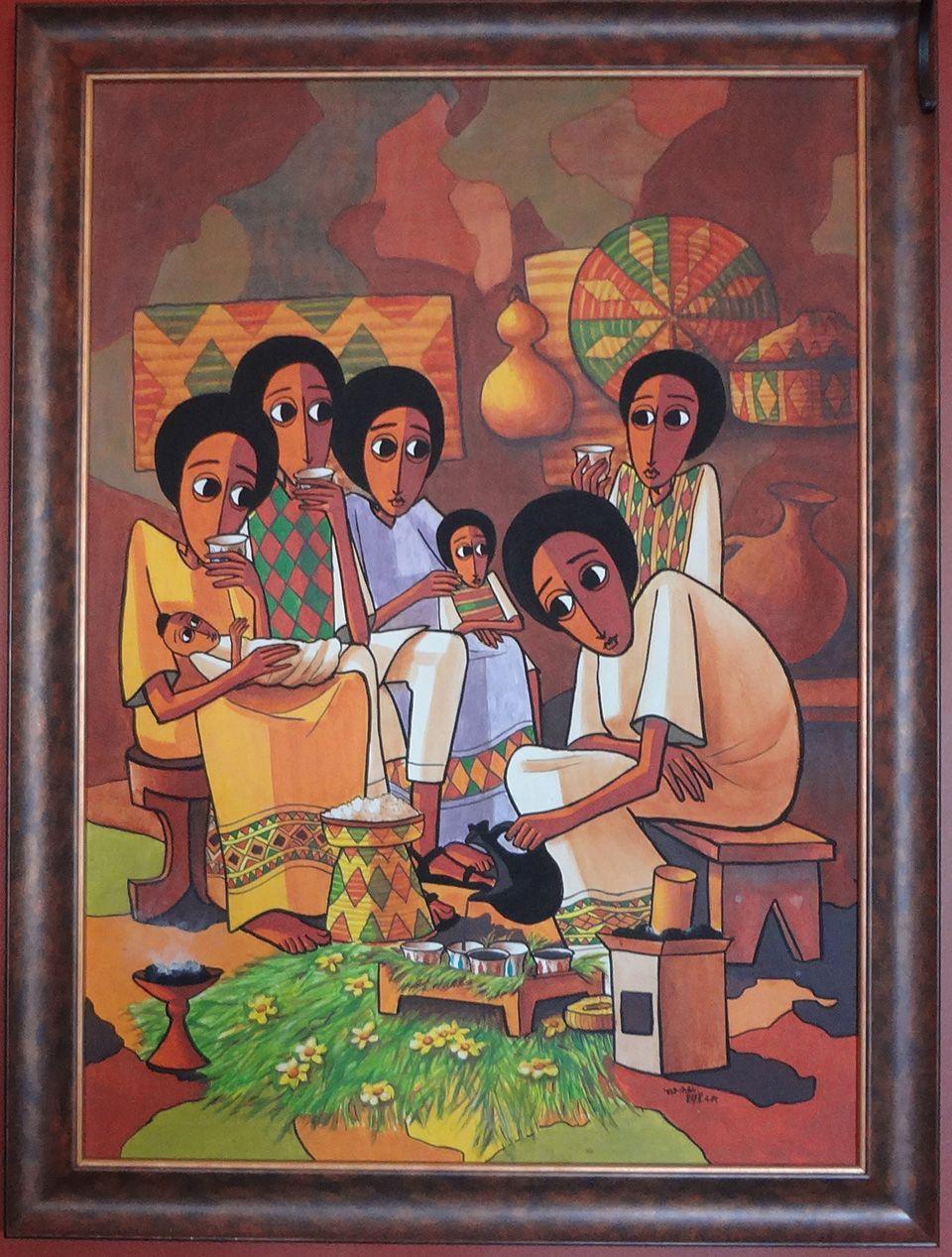 African Theme Art Print Portrait of a Moorish Chief Beautiful 8x10 In