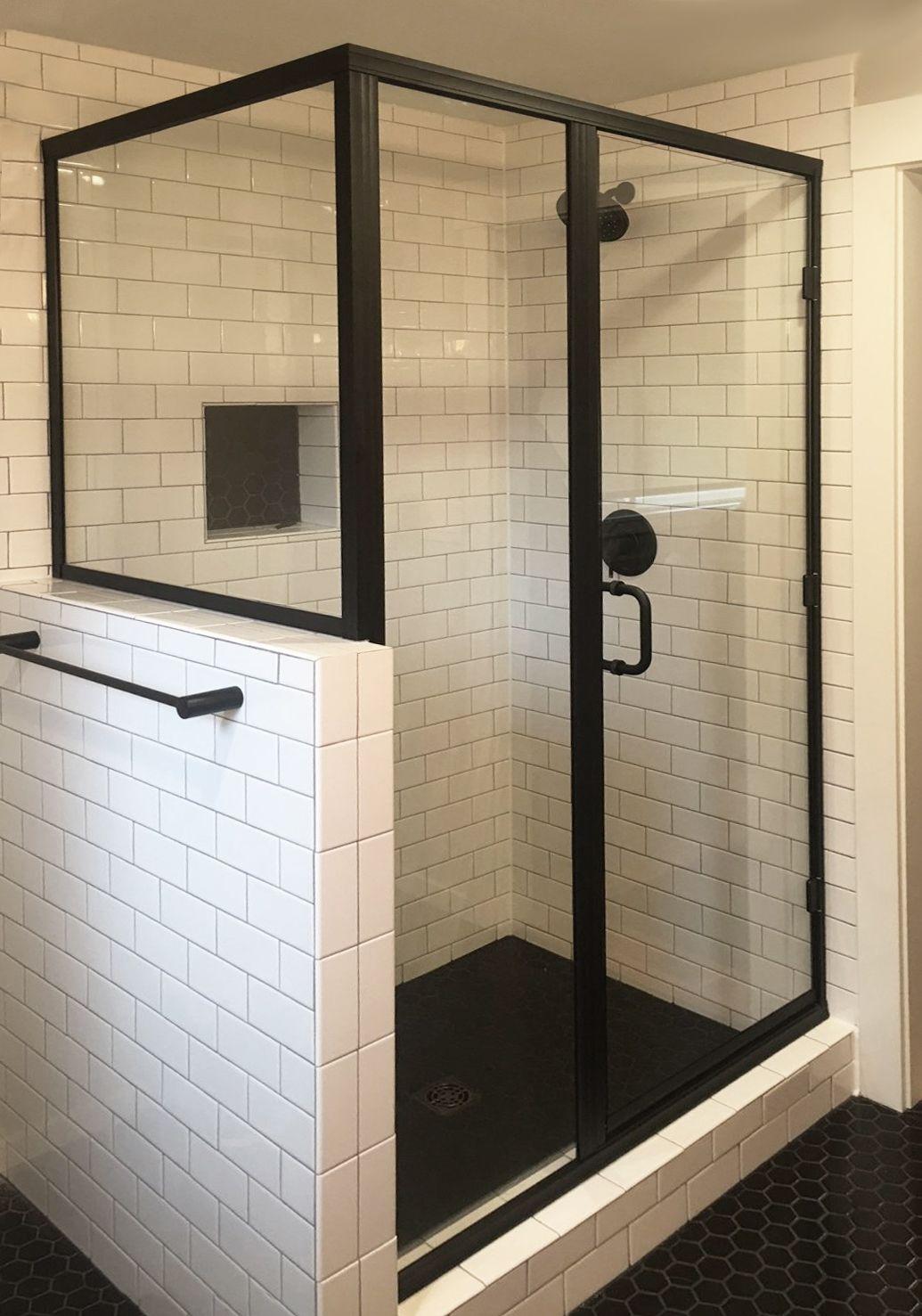 Get Glass Shower Doors Panels Tile Lines In 2020 Black Shower Doors Shower Doors Glass Shower Doors