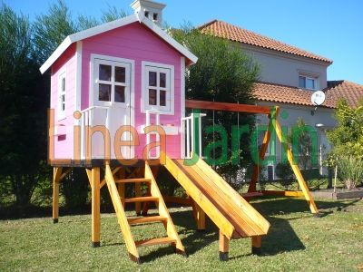 Casitas infantiles de madera ideas para casa pinterest for Casita madera jardin