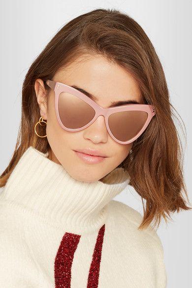 0f4b04acf526 Stella McCartney Cat-eye acetate mirrored sunglasses  260