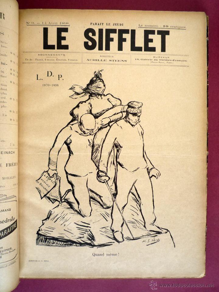 LE SIFFLET. PARIS, 1898-1899. 70 NÚMEROS ENCUADERNADOS.