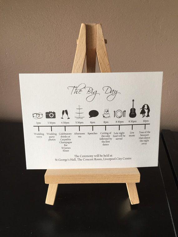 Wedding Timeline Order Of The Day Cards Order Of Service Wedding