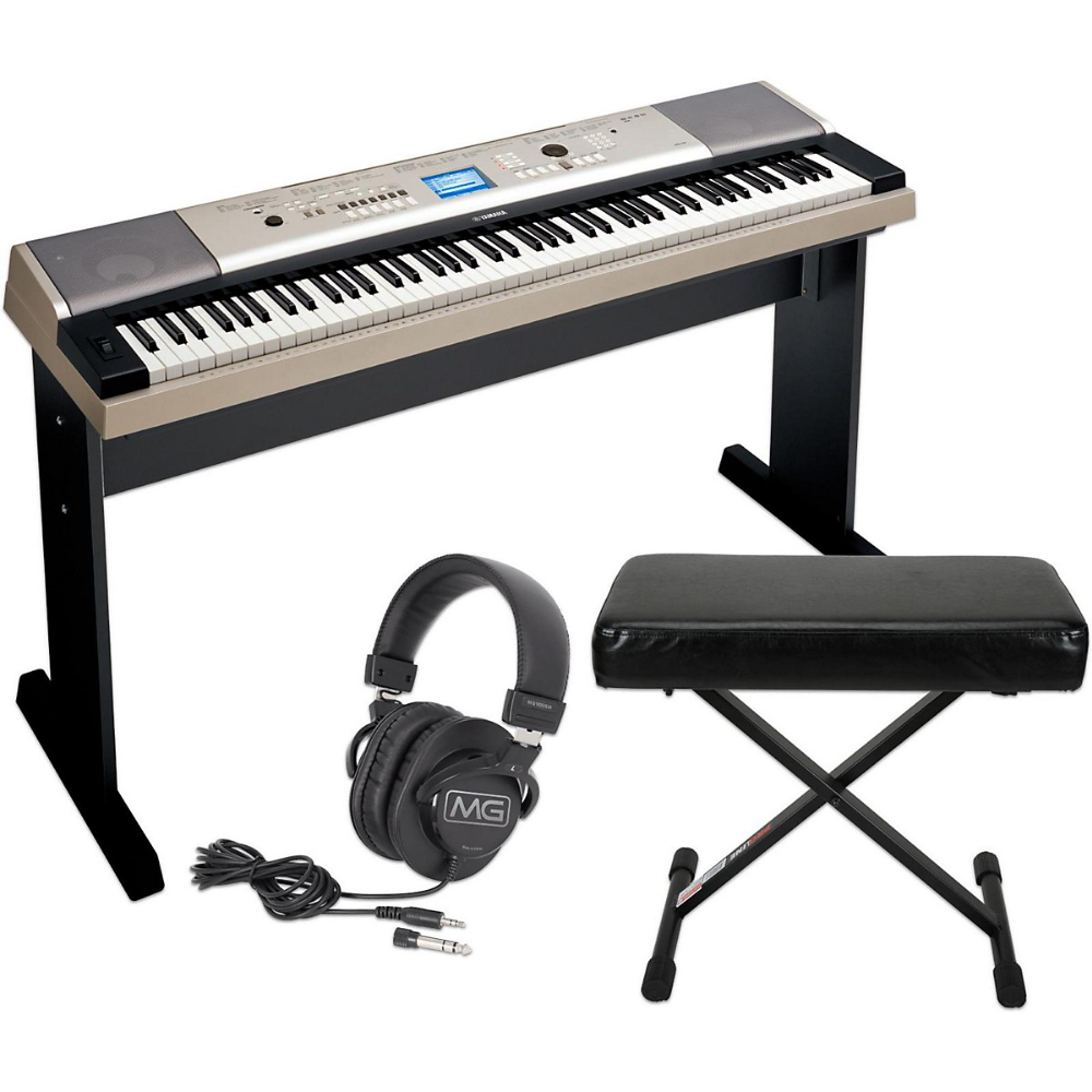 Yamaha Ypg535 88key Portable Grand Piano Keyboard With Bench And Headphones Guitar Center In 2020 Piano Keyboard Guitar Center