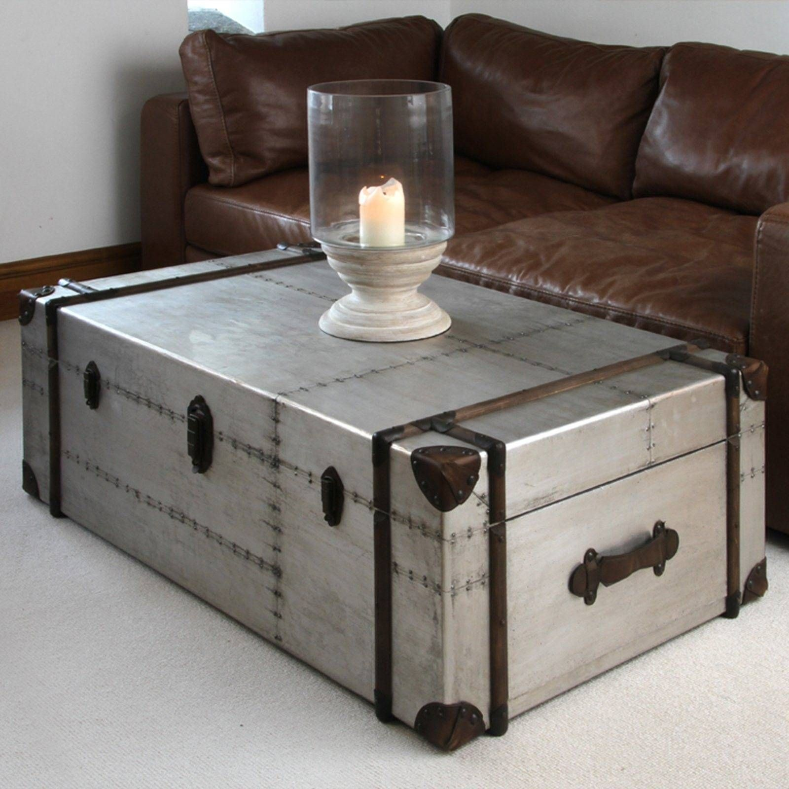 Silver Trunk Coffee Tables Coffee Table Trunk Chest Coffee Table Silver Coffee Table [ 1600 x 1600 Pixel ]