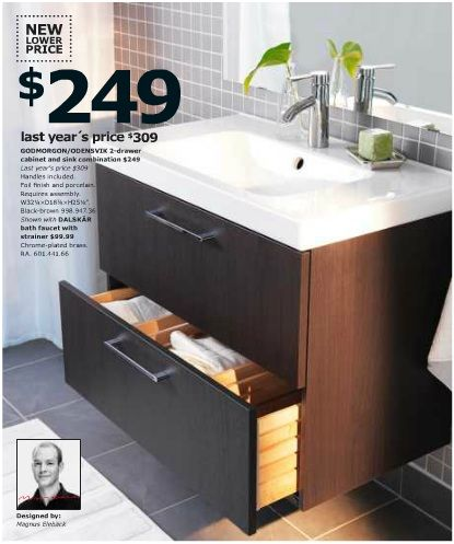 Ikea godmorgon floating vanity small bathroom remodel - Vanities for small bathrooms ikea ...