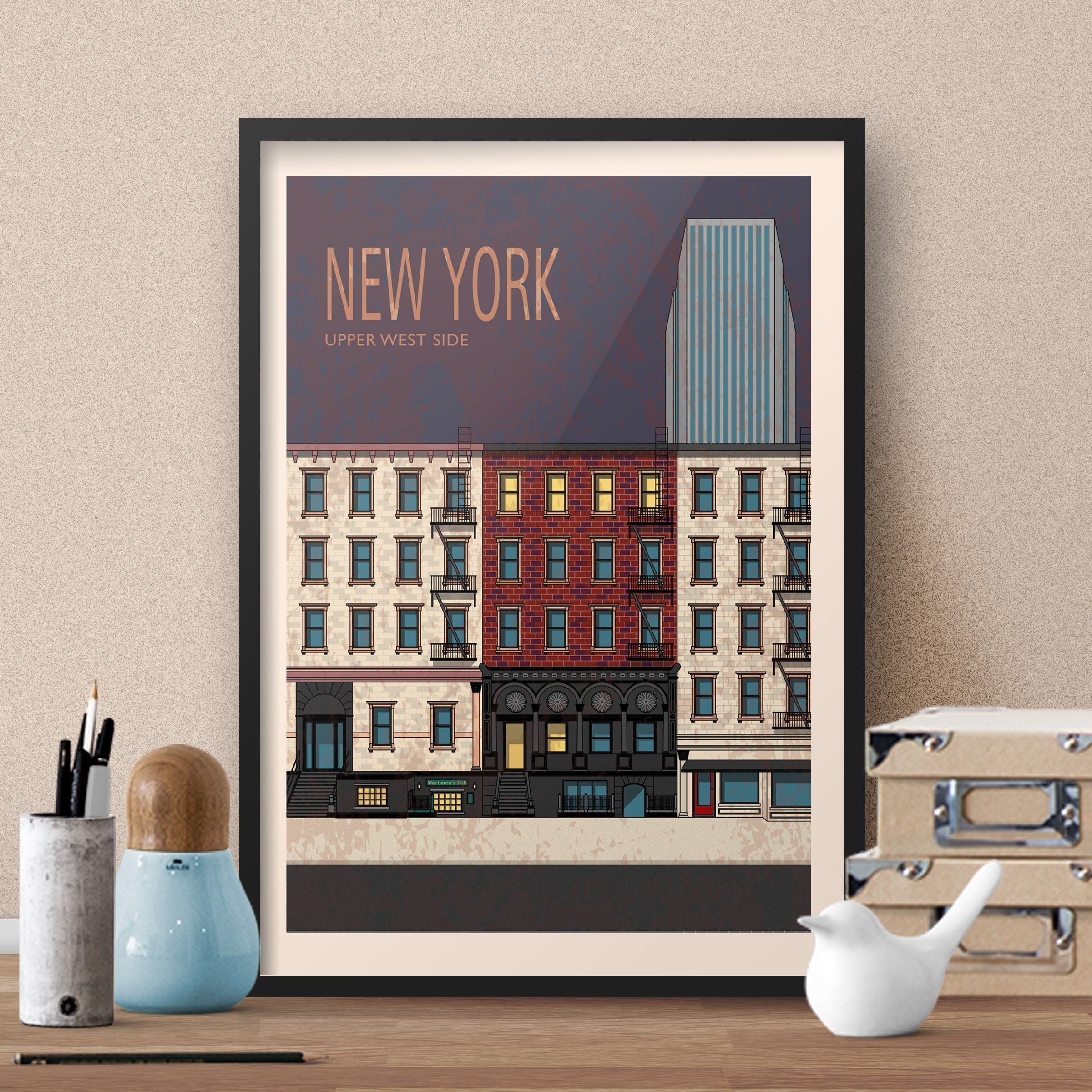 How I Met Your Mother TV show themed New York Travel Poster